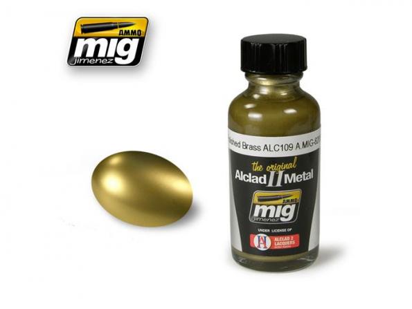 MIG peinture Alclad II 8206 Laiton poli ALC109 30ml