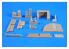 CMK amélioration Bateau n72016 U-Boot Chambre des officiers et capitaine pour Revell 1/72