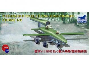 BRONCO maquette avion CB 35060 Missile V1 FIESELER Fi-103 RE-3 avec remorque 1/35