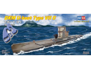 HOBBY BOSS maquette sous marin 87009 U-Boat type VIIC 1/700