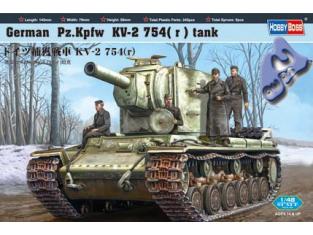 Hobby Boss maquette militaire 84819 Pz.Kpfw KV-1 754r 1/48