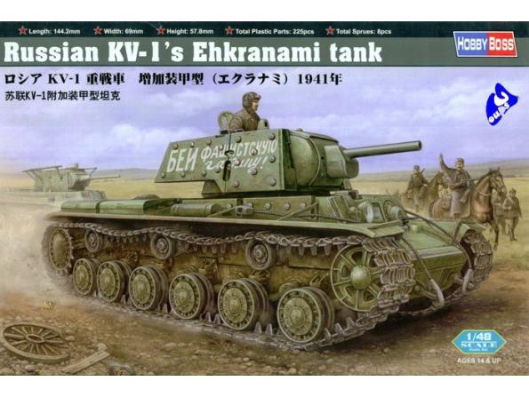 Hobby Boss maquette militaire 84811 KV-1&39S Ehkranami 1/48