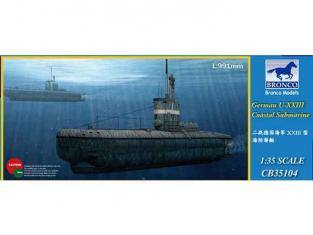 Bronco maquette sous-marin CB 35104 Sous marin cotier U-XXIII 1/35