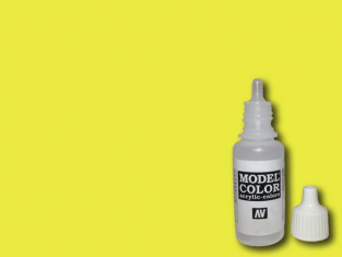 Vallejo Peinture Acrylique Model Color 70730 Jaune fluorescent RAL1026 17ml