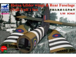 Bronco maquette avion AB 3574 Horsa ailes et arrière du fuselage 1/35