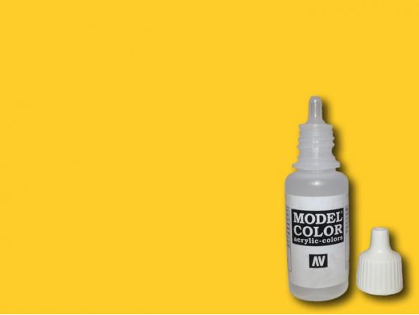 Vallejo Peinture Acrylique Model Color 70953 Jaune mat FS33655 - RAL1003 - RLM04 17ml