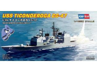 HOBBY BOSS maquette bateau 82501 USS TICONDEROGA CG-47 1/1250