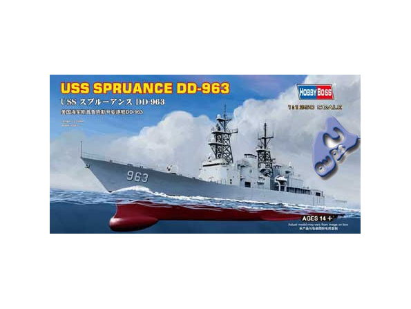 HOBBY BOSS maquette bateau 82504 USS SPRUANCE DD-963 1/1250
