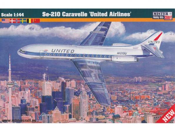 MASTER CRAFT maquette avion 040277 SE-210 CARAVELLE UNITED AIRLINES 1/144