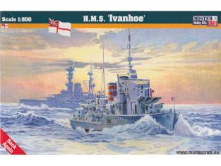"MASTER CRAFT maquette bateau 002992 HMS ""IVANHOE"" D-16 1/500"