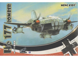 Meng maquette avion MP003s HEINKEL He 177 BOMBER SPECIAL EDITION KITS FOR KIDS SERIE
