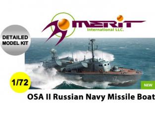 Merit maquette bateau 67202 CORVETTE LANCE MISSILES SOVIETIQUE TYPE OSA-2 1/72