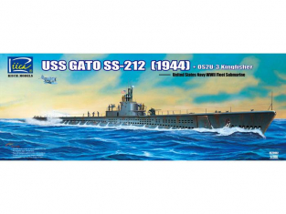 Riich Models maquette sous-marin 20002 USS GATO SS-212 SOUSMARIN US 1944 + OS2U-3 Kingfisher 1/200