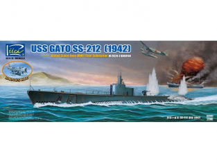Riich Models maquette sous-marin 20001 USS GATO SS-212 SOUSMARIN US 1942 1/200