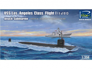 Riich Models maquette sous-marin 28005 USS LOS ANGELES CLASS I (688) Sous Marin D'attaque US NAVY 1977 1/350