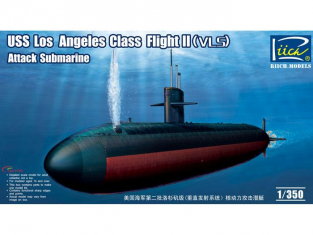 Riich Models maquette sous-marin 28006 USS LOS ANGELES CLASS II (VLS) Sous Marin D'attaque US NAVY 1990 1/350