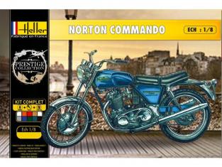 Heller maquette moto 52996 Coffret Complet Norton Commando 1/8