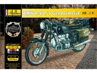 Heller maquette moto 52992 Coffret Complet Bmw R-60/5 Gendarmerie 1/8