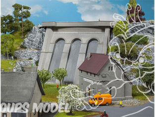 Faller construction 130943 Centrale électrique avec barrage HO