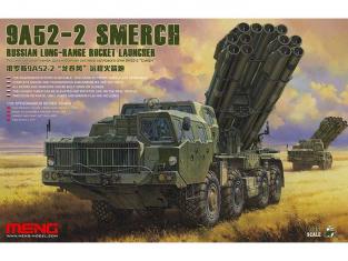 Meng maquette militaire TS-009 LANCE ROQUETTES MULTIPLE LONGUE DISTANCE RUSSE 9A52-2 SMERCH 1/35