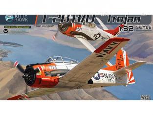 Kiity Hawk maquette avion KH32014 NORTH AMERICAN T-28B/D TROJAN (FENNEC) ARMEE DE L AIR 1960 1/32