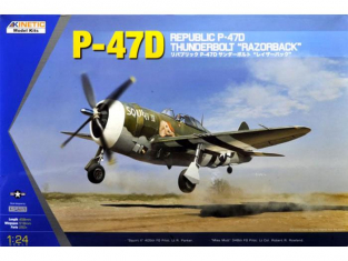 Kinetic model kits maquette avion K3208 P-47 Razorback 1/24