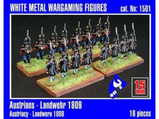 Mirage maquette FIGURINES 1501 Austrians Landwehr 1/72