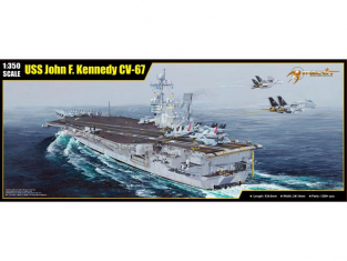 Merit maquette bateau 65306 PORTE-AVIONS US CV-67 USS JOHN F. KENNEDY 1995 1/350