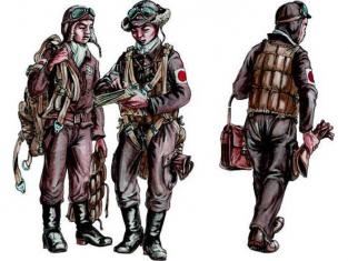 CMK Personnage resine F72289 ÉQUIPAGE DE BOMBARDIER ARMÉE DE L AIR JAPONAISE WWII 1/72