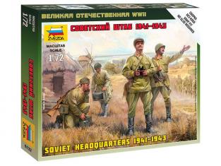 Zvezda maquette figurine 6132 Etat-Major Soviétique 1/72