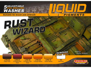 Lifecolor peinture LP02 LIQUID PIGMENTS SERIES Rust Wizard