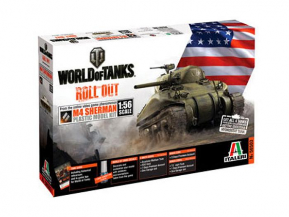 Italeri maquette militaire 56503 M4 Sherman Wold of Tanks 1/56