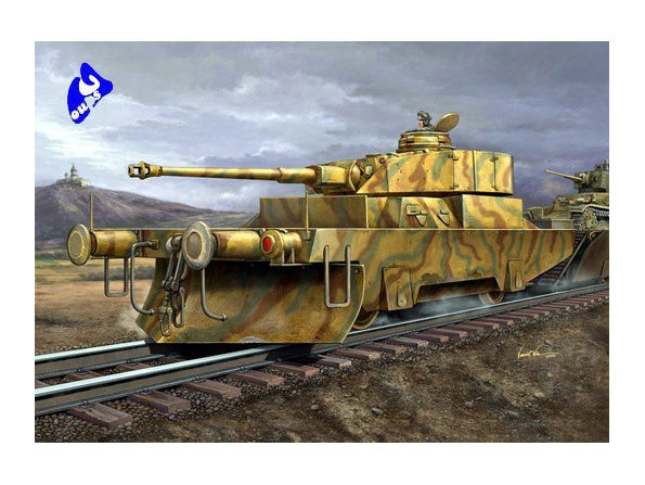 Trumpeter maquette militaire 00368 WAGON BLINDE ALLEMAND 1/35