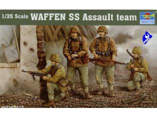 Trumpeter maquette militaire 00405 EQUIPE D'ASSAUT DE LA WAFFEN