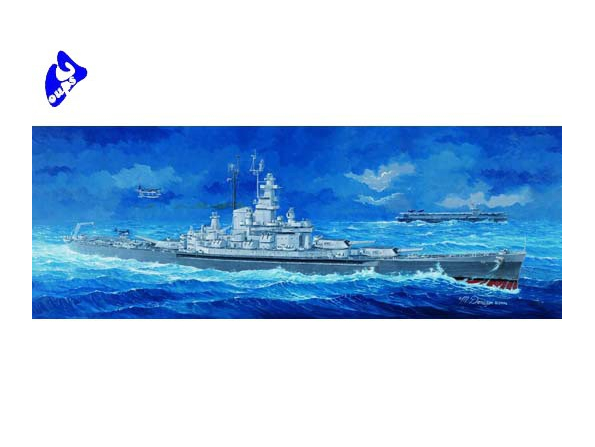 "Trumpeter maquette bateau 05306 USS BB-59 "" MASSACHUSETTS"" 1/350"