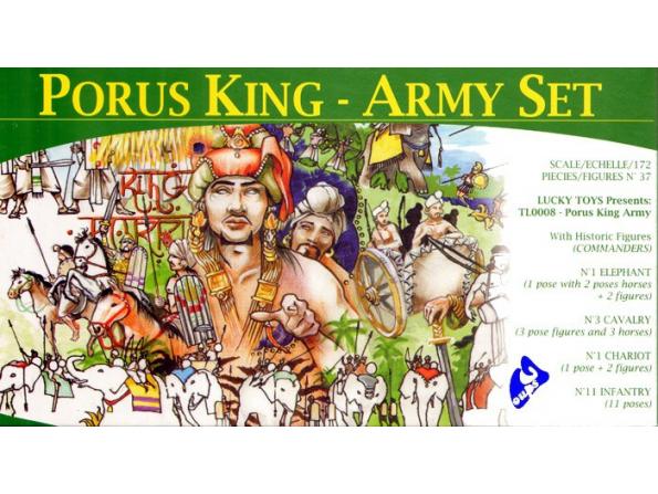 Lucky maquette FIGURINES TL0008 Porus Armée Royale 1/72