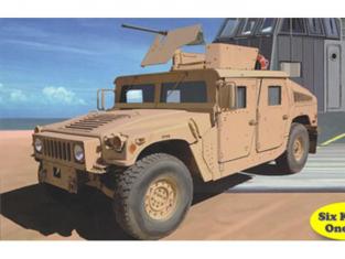 BRONCO maquette militaire NB5037 USMC M1114 Up-Armoured Tactival Vehicle x6 1/350