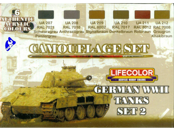 Lifecolor peinture cs03 set camouflage Tank Allemand