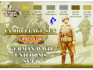 Lifecolor peinture cs04 set camouflage Uniforme Allemand 1