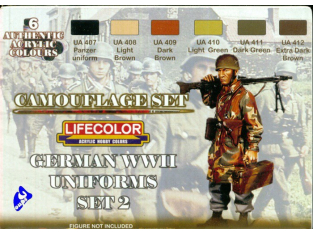 Lifecolor peinture cs05 set camouflage Uniforme Allemand 2