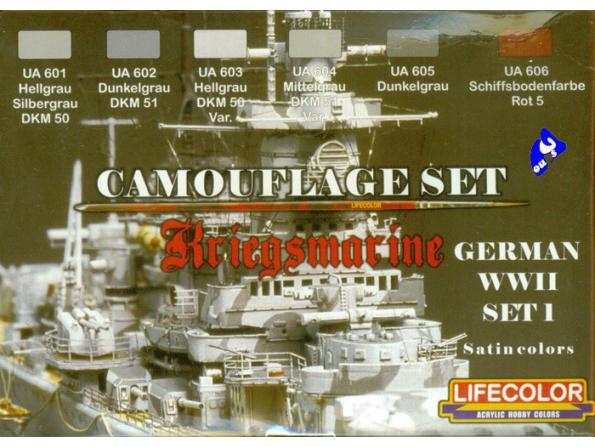 Lifecolor peinture cs09 set camouflage Kriegsmarine