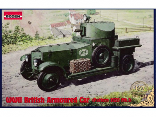 Roden maquette militaire 731 BRITISH ARMOURED CAR - PATTERN 1920 Mk.I 1/72