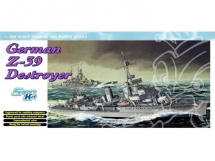 DRAGON maquette bateau 7103 Destroyer Allemand Z-39 1/700