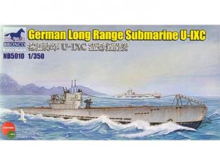 BRONCO maquette bateau nb 5010 Sous-marin Allemand U-Boot U-IXC 1/350