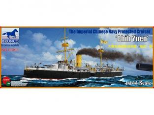 BRONCO maquette bateau KB 14001 Croiseur de protection de la flotte chinoise Imperiale Chich Yuen 1/144
