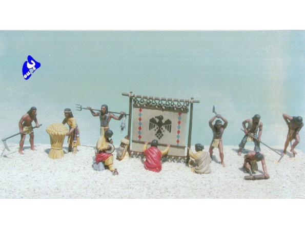 Pegasus maquette figurines 7004 Indiens 1/48
