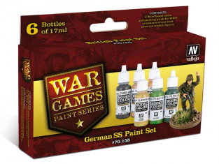Vallejo Set Model Color Wargames 70158 SS Allemands 6 x 17ml