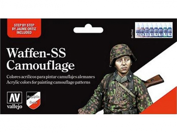 Vallejo Set Model Color 70180 Waffen SS Camouflage 8 x 17ml