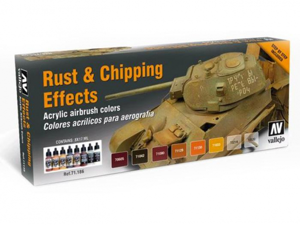 Vallejo Set Model Air 71186 Rouille & Chipping Effects 8 x 17ml