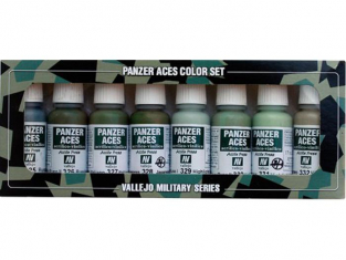 Vallejo Set Panzer Aces 70127 Set n°4 Uniformes 8 x 17ml